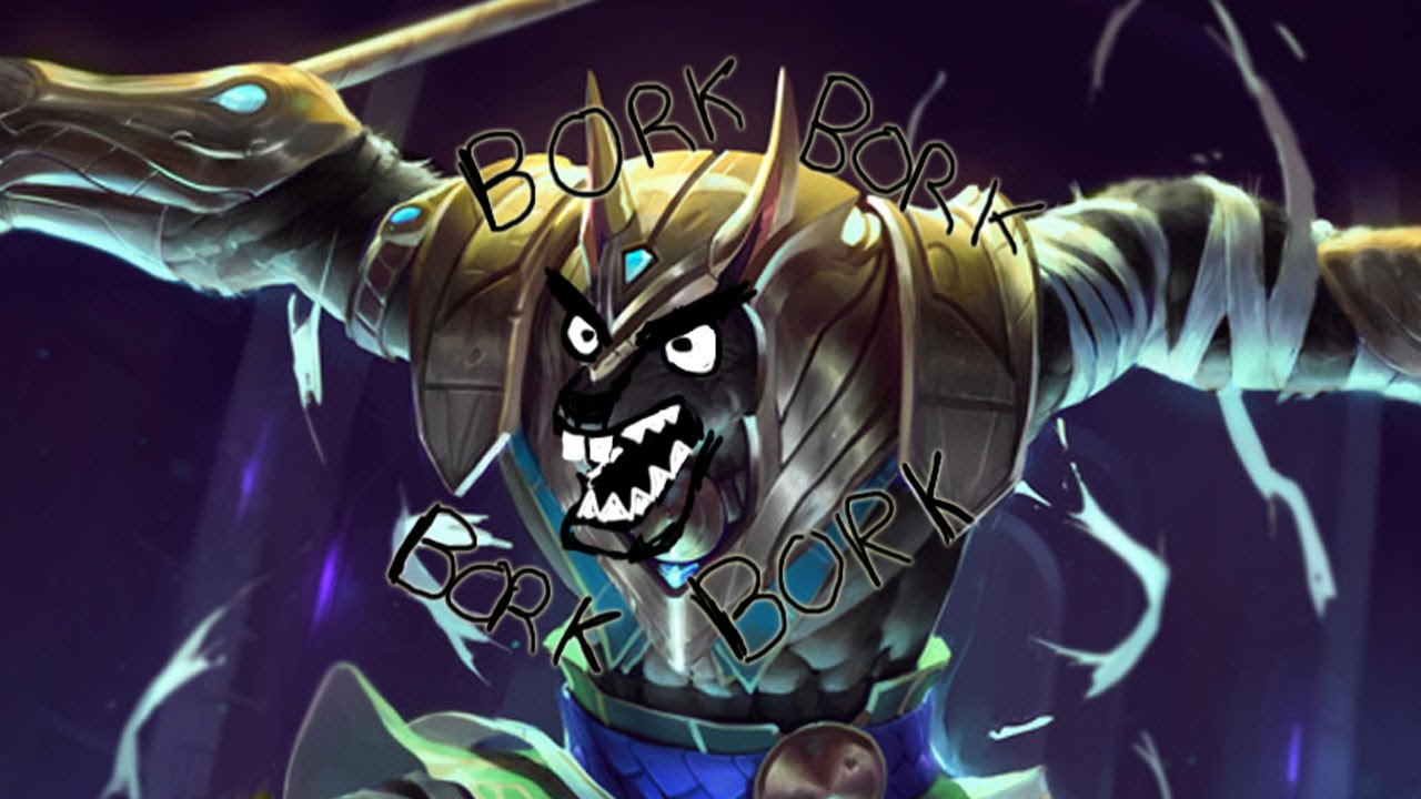 angry lol champion nasus