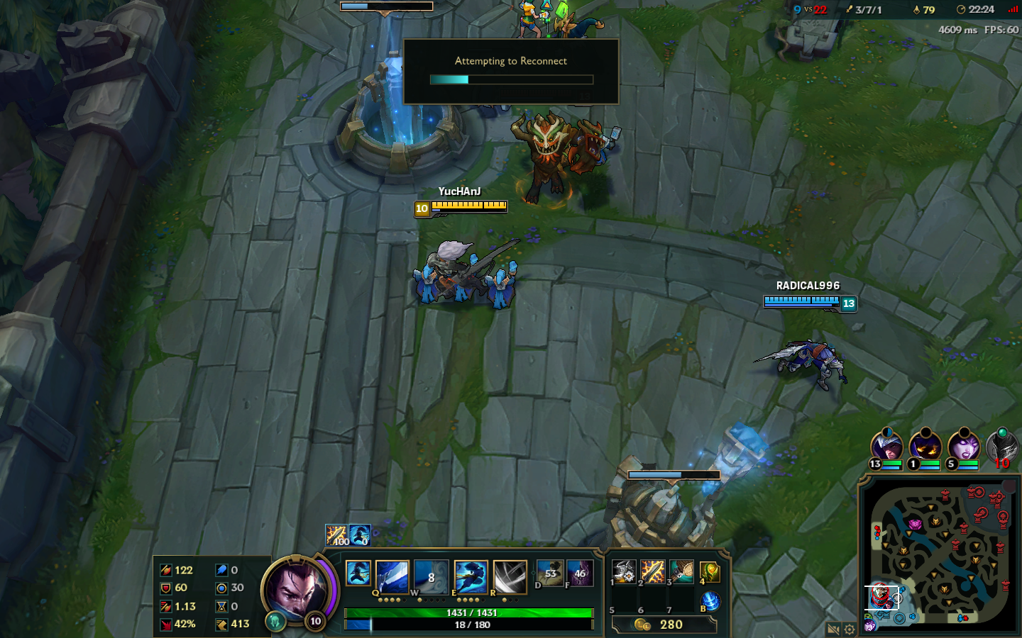 League of Legends Ingame Ping