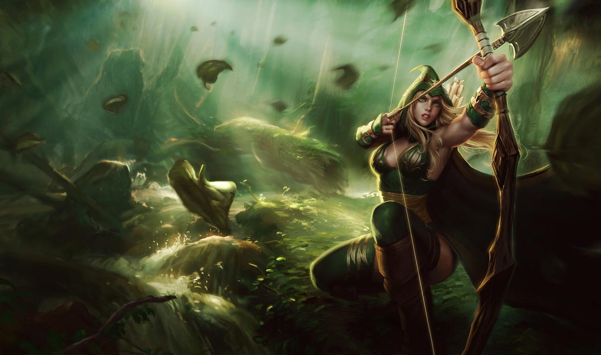 league of legends st patricks day sherwood forest ashe skin