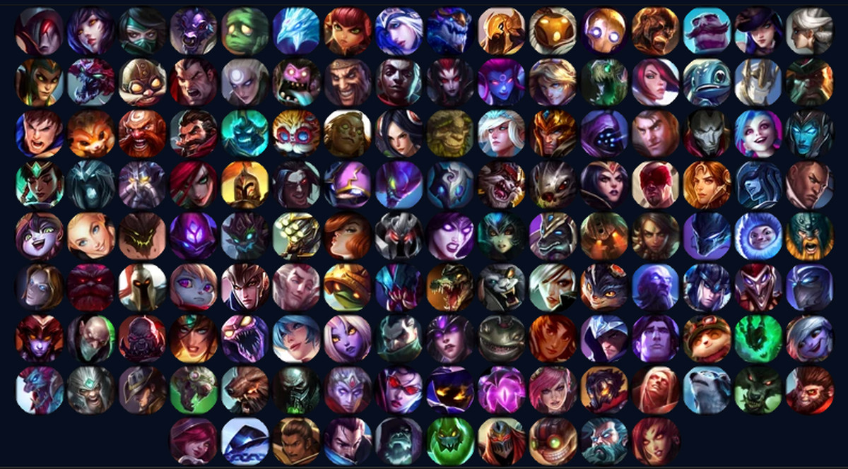 collection of lol champions