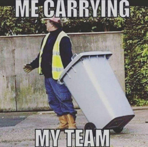 me carrying my team lol