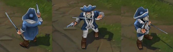 Minuteman Gangplank League of Legends Independence Day Skin