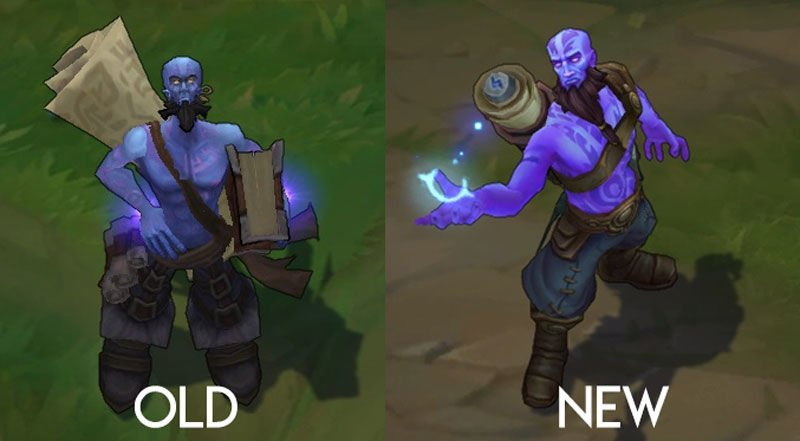 Ryze champion rework before after