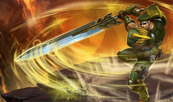 Commando Garen Splash Art