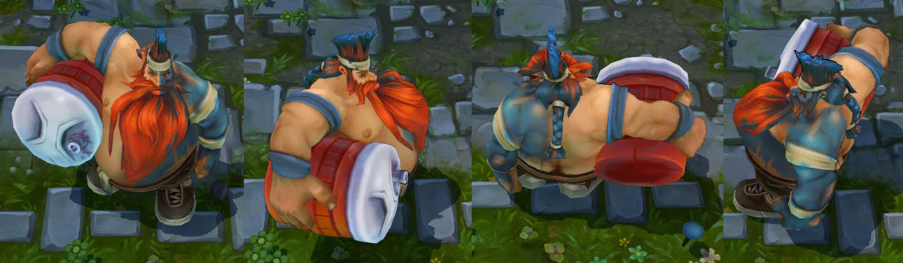 Superfan Gragas LoL Skin