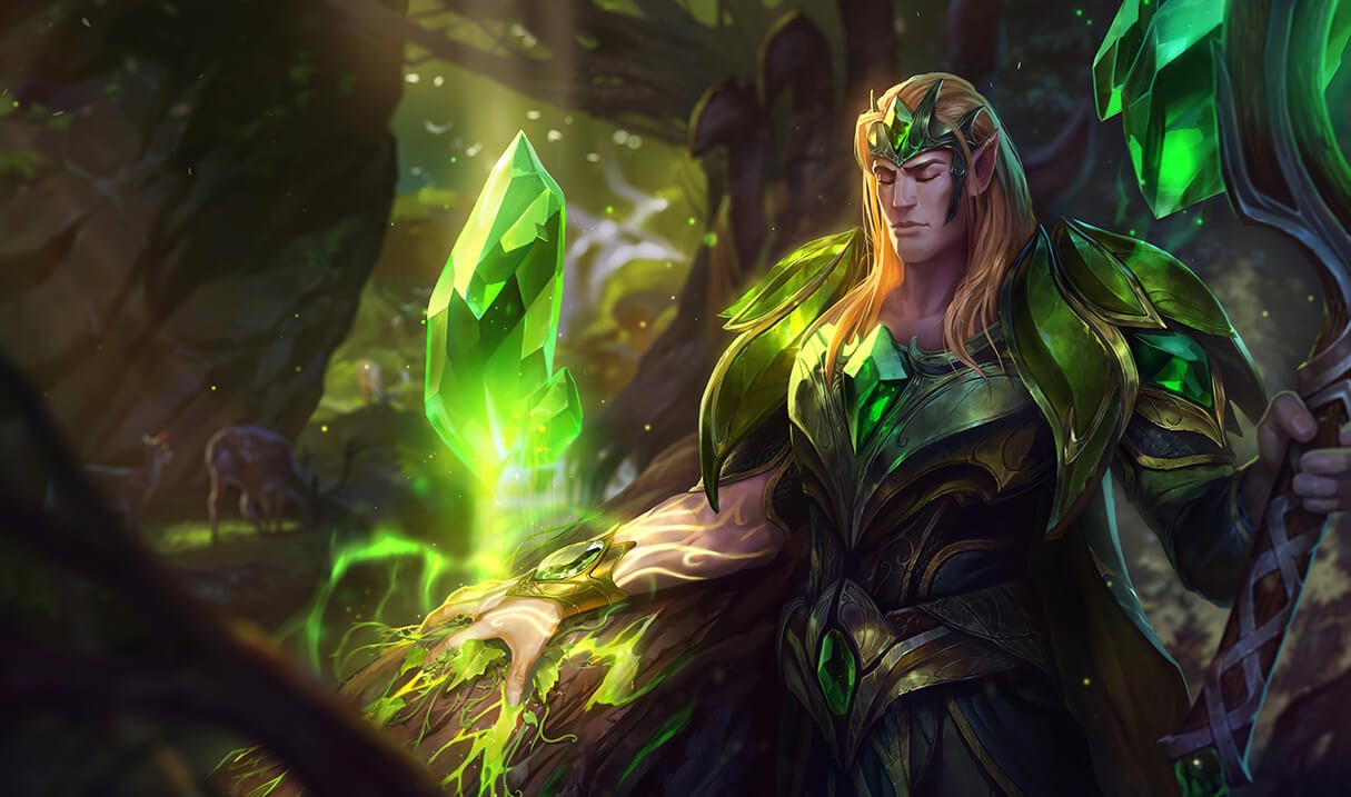 league of legends st patricks day emerald taric skin