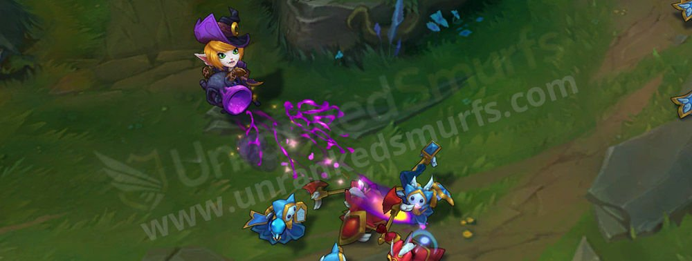 Bewitching Tristana auto attack
