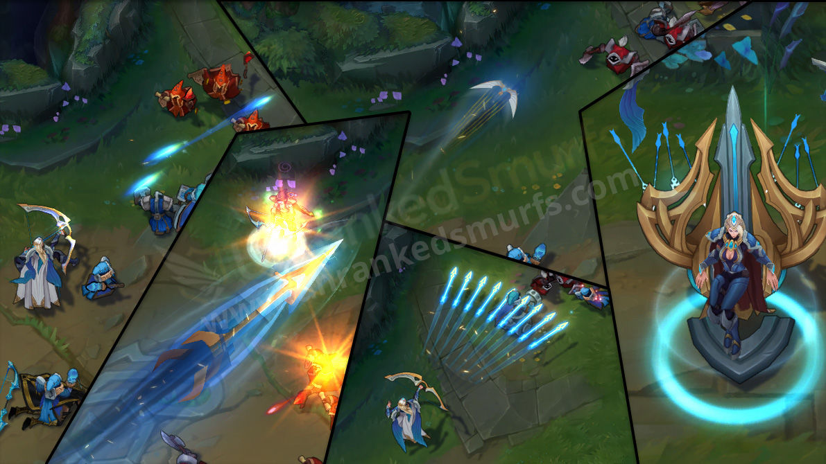 Championship Ashe League of Legends Skin Animations